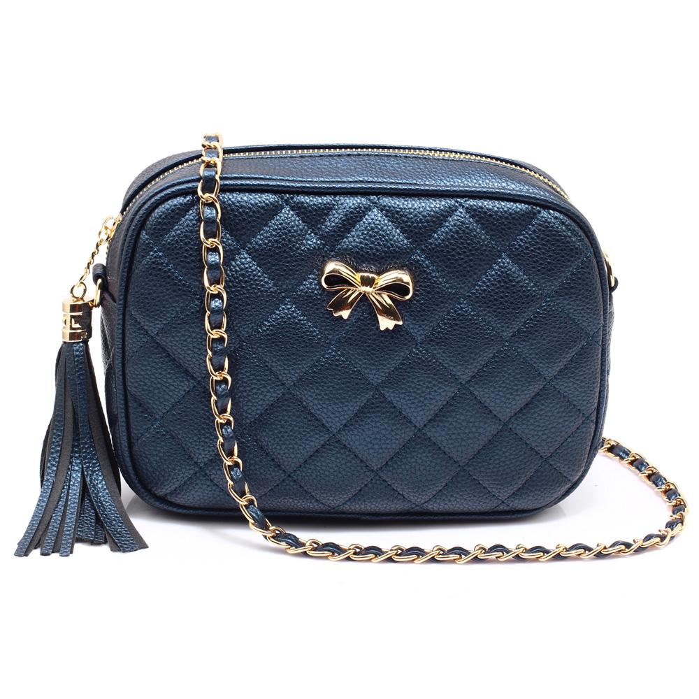Modrá malá crossbody kabelka AG00540