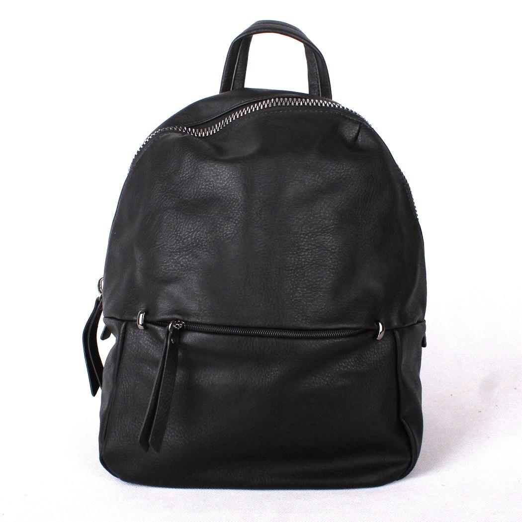 cd885fad6b Městský malý černý batoh ROMINA  amp  CO s obsahem 12l