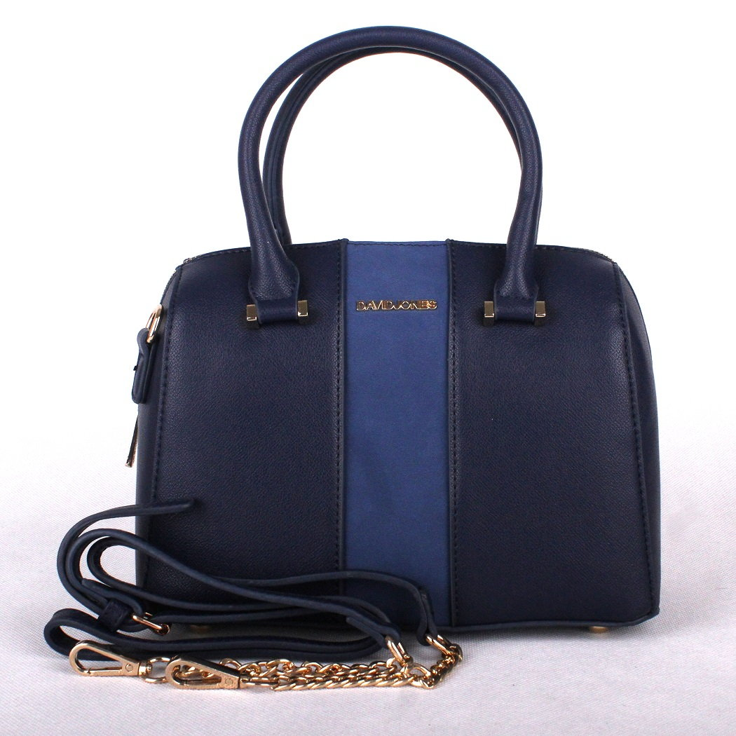 Malá modrá kabelka do ruky David Jones 5201-3