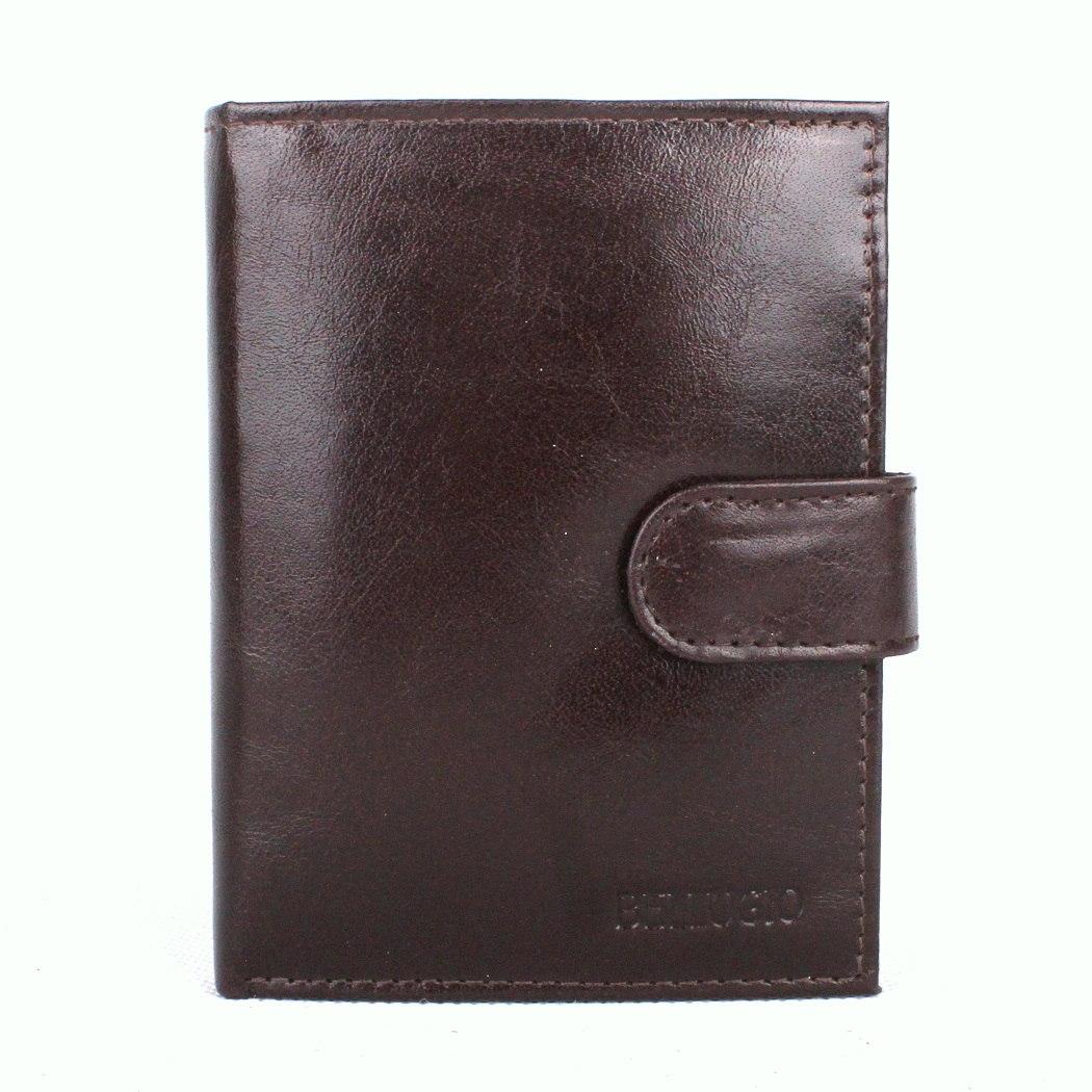 Tmavěhnědá kožená pánská peněženka Bellugio