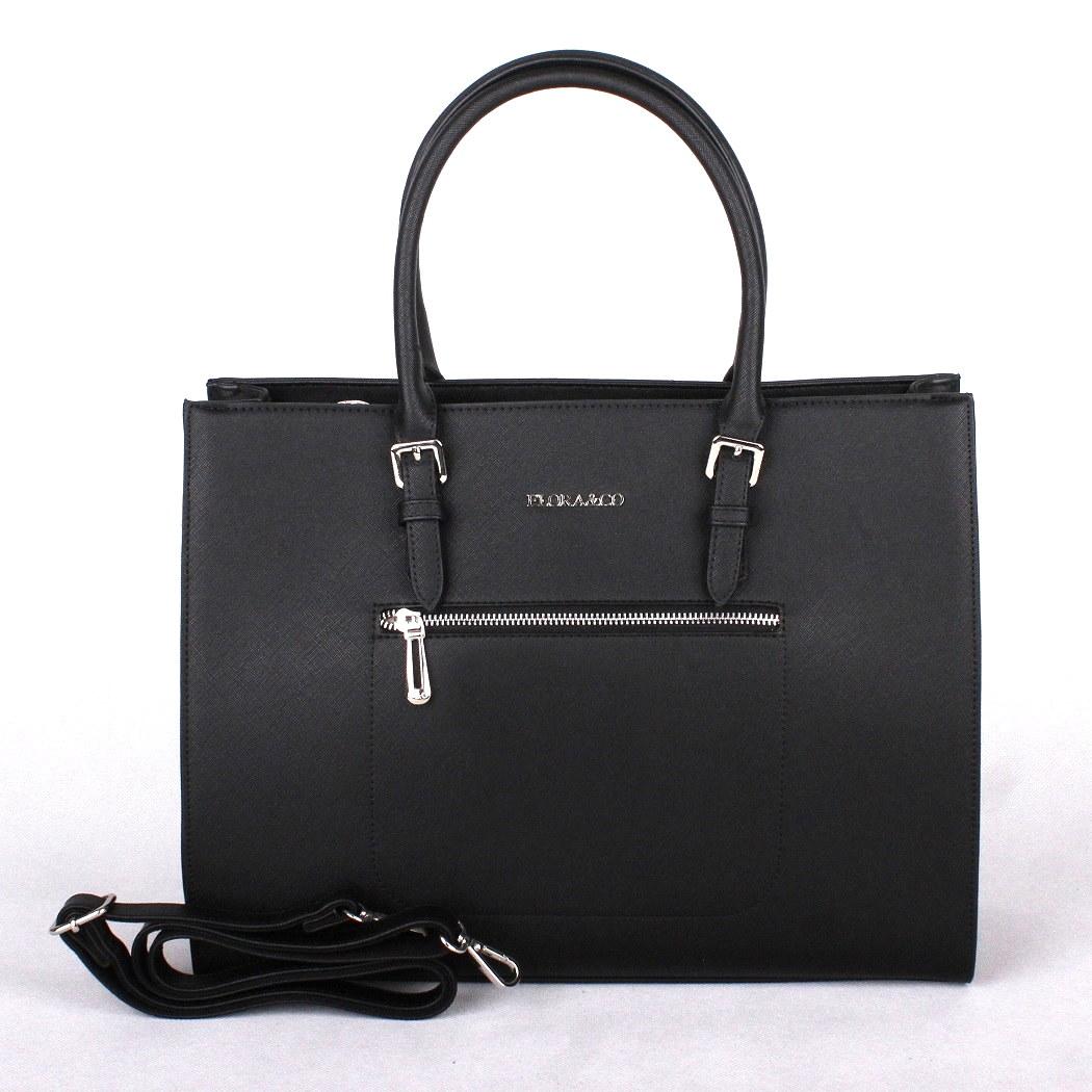 Černá velká elegantní kabelka do ruky FLORA&CO F6343 | Oázakabelek.cz