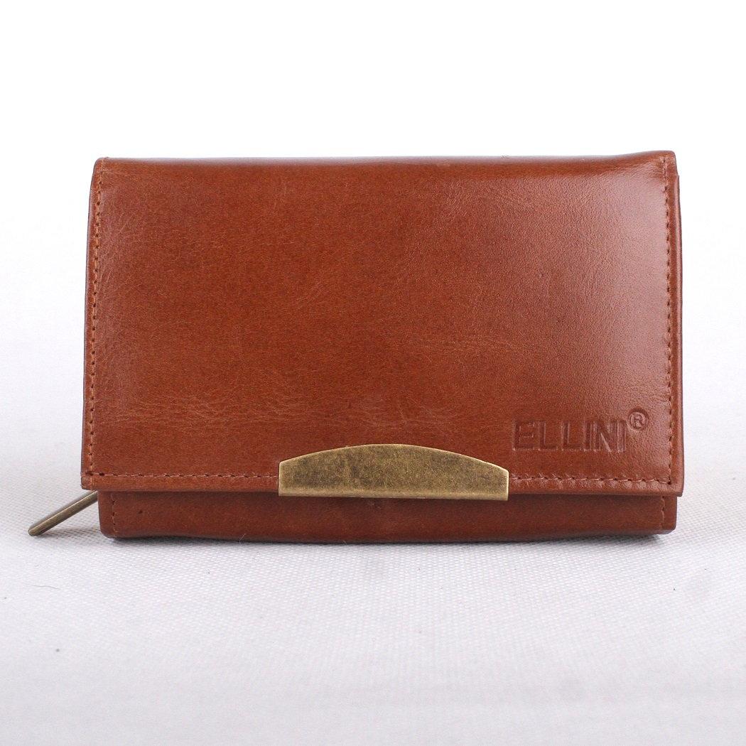 Hnědá kožená peněženka ELLINI (ADE-21-068)