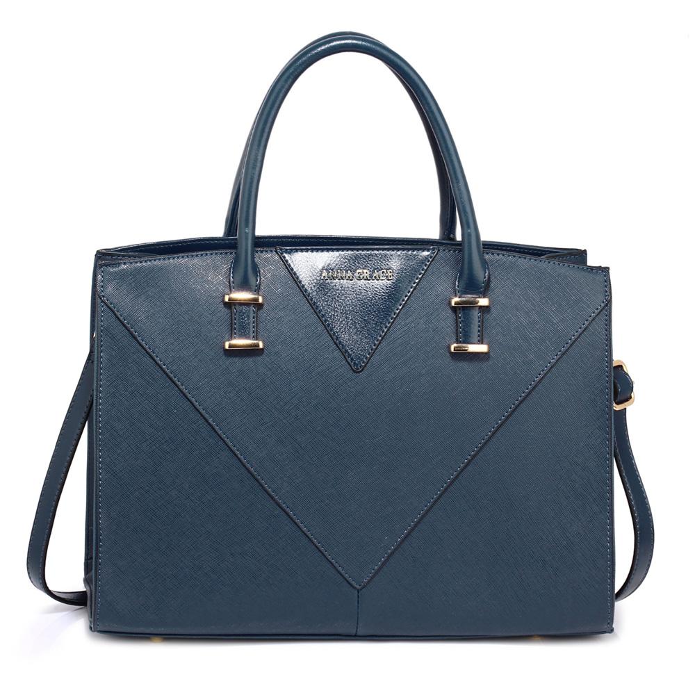 Modrá středně velká kabelka do ruky AG00519
