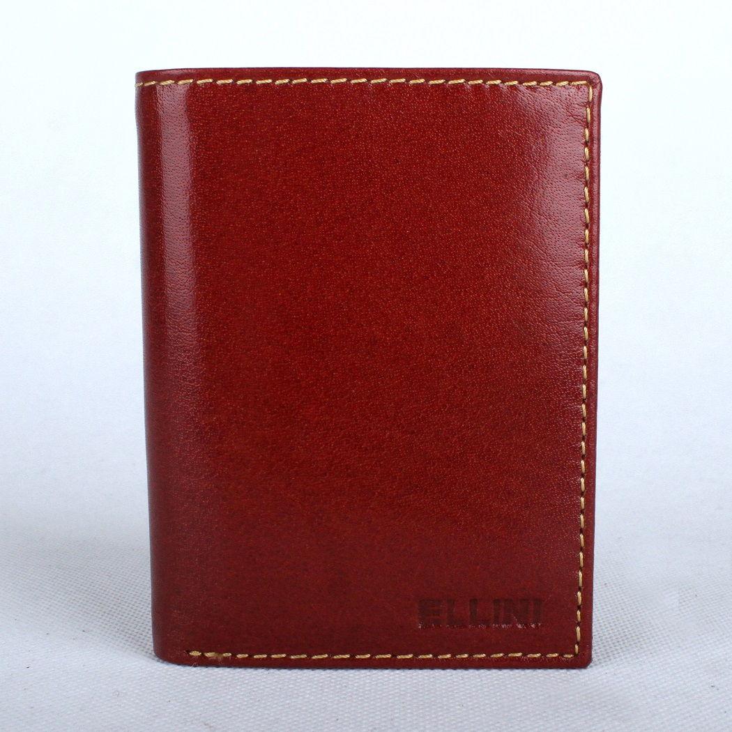 Hnědá (cognac) kožená peněženka ELLINI (TM-51-034)
