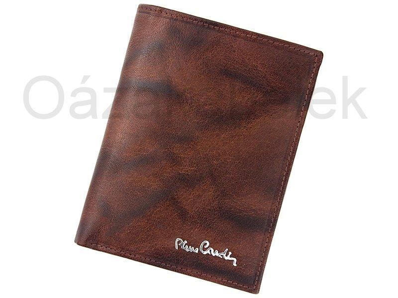 Hnědá kožená peněženka Pierre Cardin 12.331 s ochrannou RFID