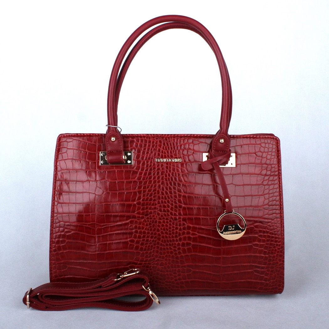 Tmavěčervená velká kabelka co ruky David Jones 5244-2