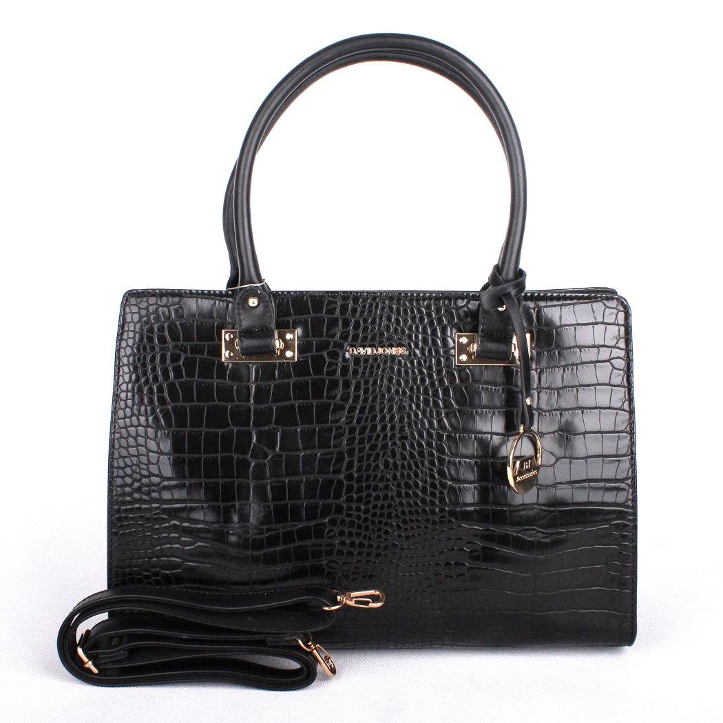 Černá velká kabelka co ruky David Jones 5244-2