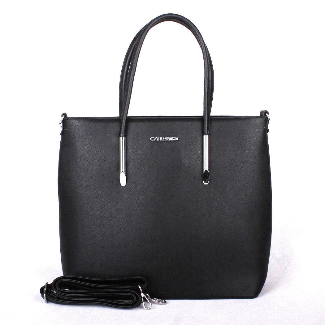 Černá velká elegantní pevná kabelka do ruky GALLANTRY M9304