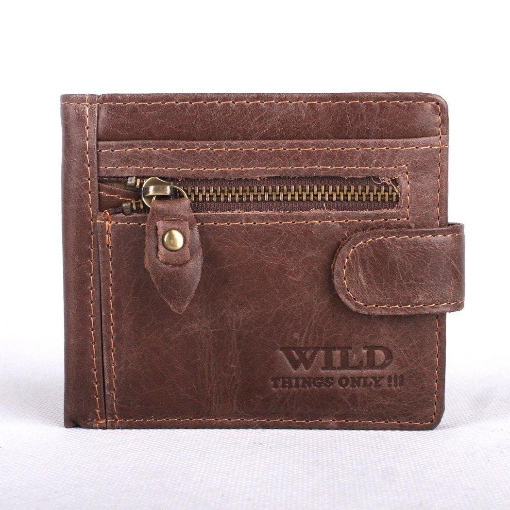 Malá tmavěhnědá kožená peněženka Wild