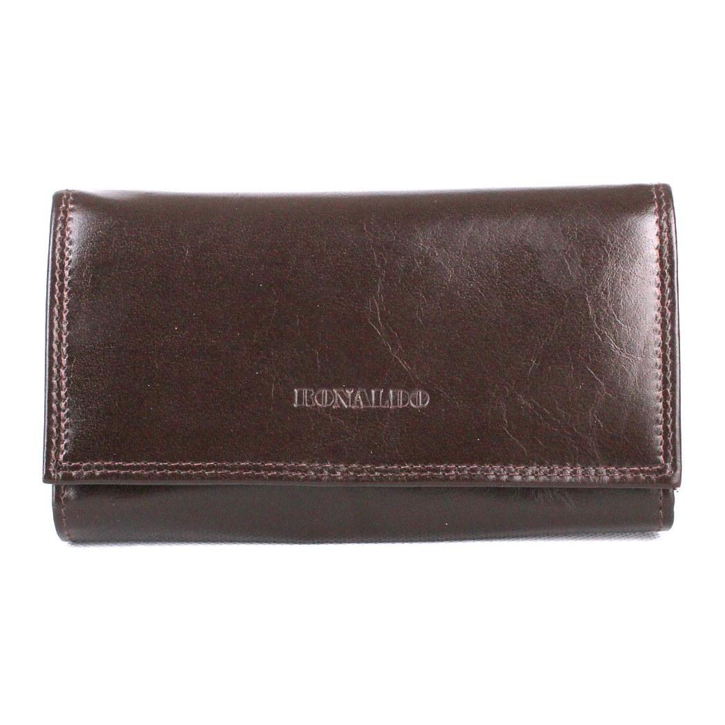 Tmavěhnědá kožená peněženka RONALDO (RD-07-CFL)
