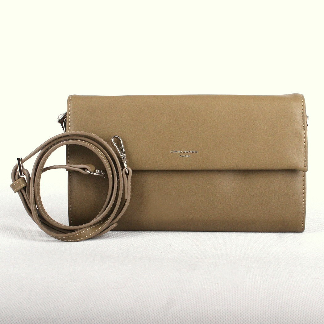 Zelenohnědé (khaki) psaníčko (kabelka) David Jones CM3513