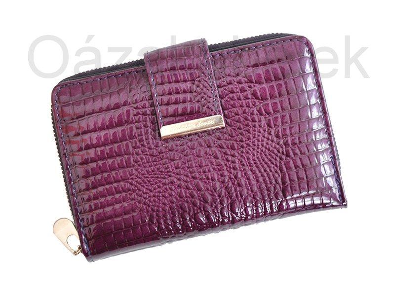 Lesklá fialová kožená peněženka Jennifer Jones 5198 | Oázakabelek