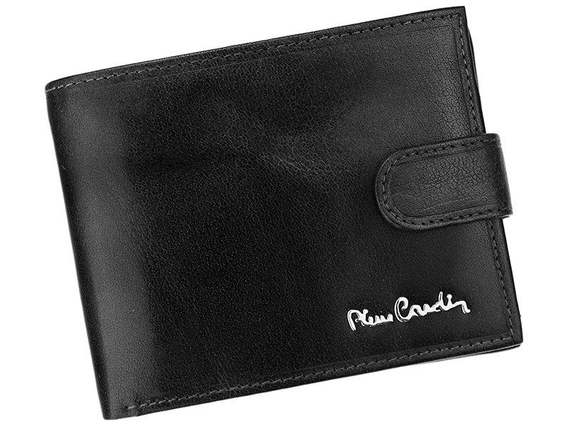 Luxusní černá kožená peněženka Pierre Cardin Tilak12.324A s upínkou