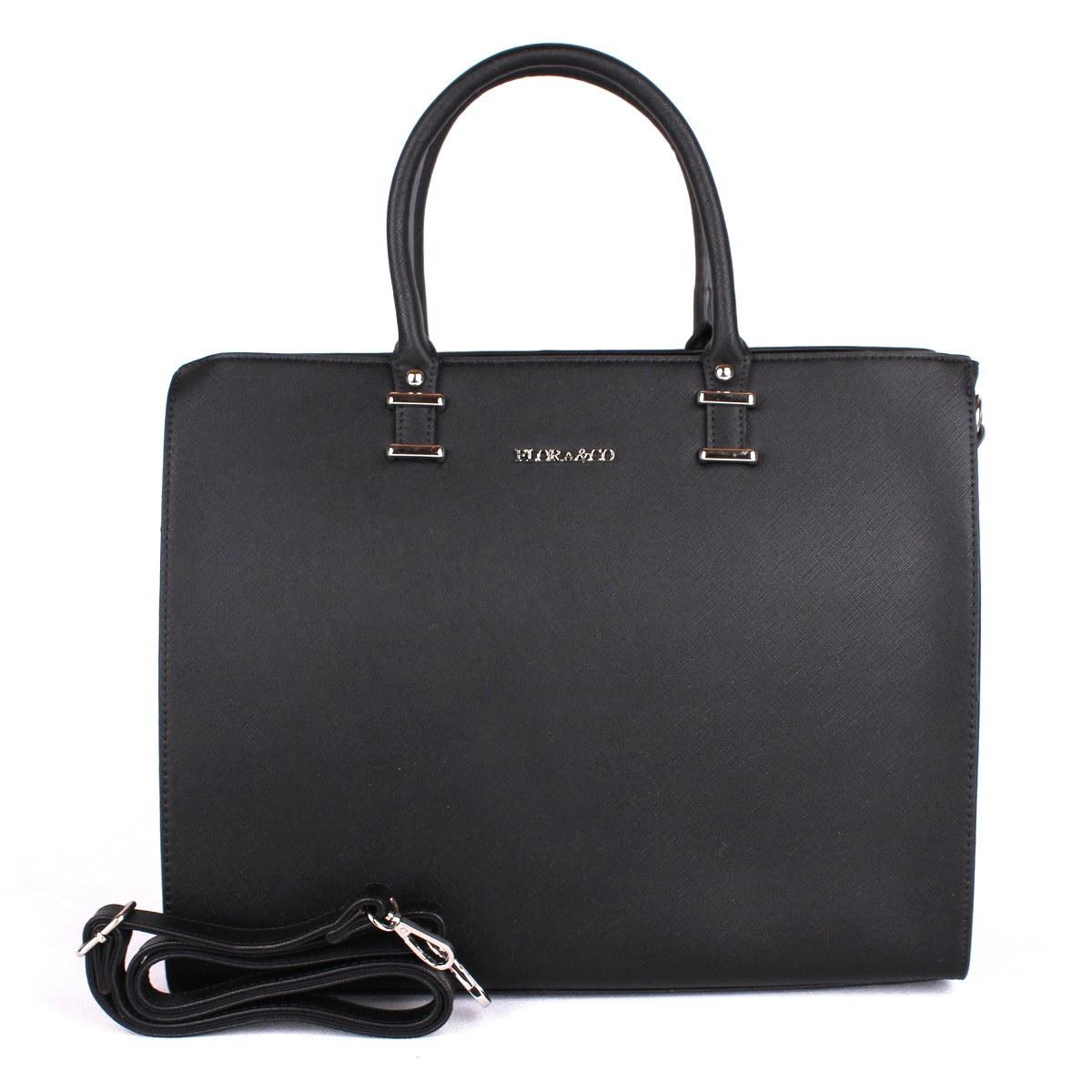 Černá velká elegantní kabelka do ruky FLORA&CO F9238 | Oázakabelek.cz
