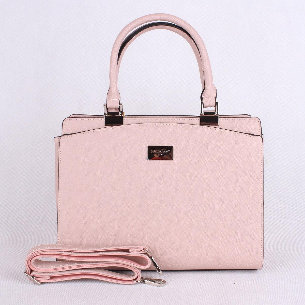 Růžová středně velká elegantní kabelka do ruky FLORA&CO F6346