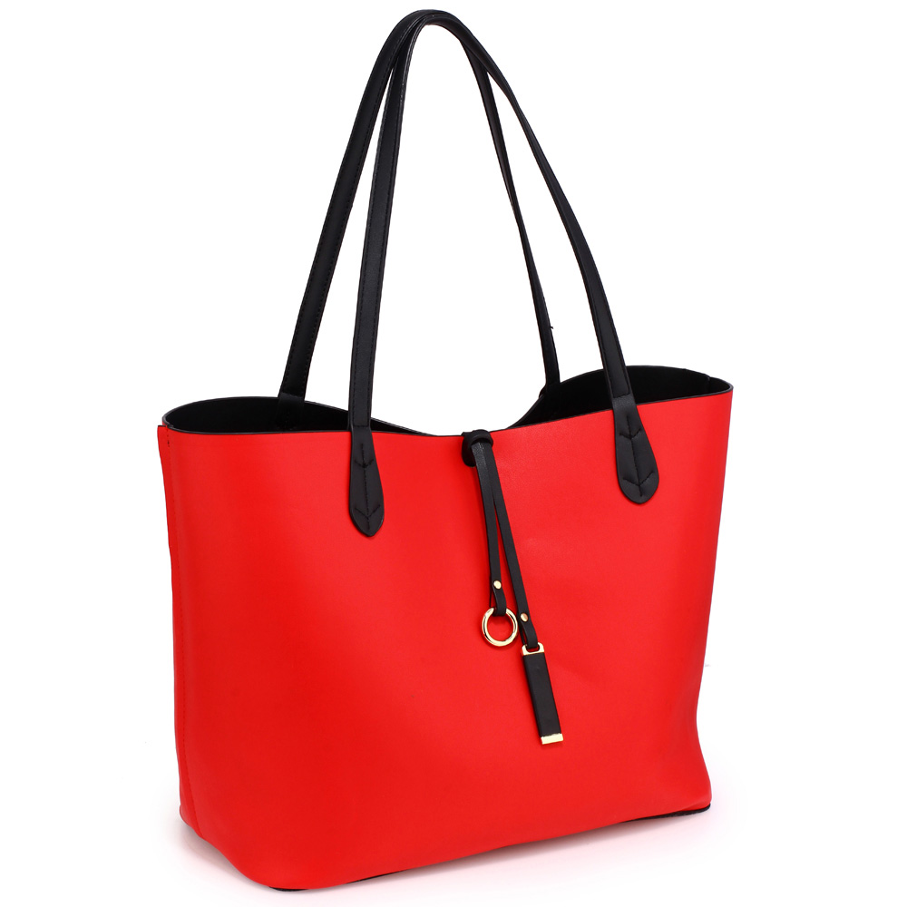 ec49d755e79f Velká černo-červená oboustranná kabelka AG00567