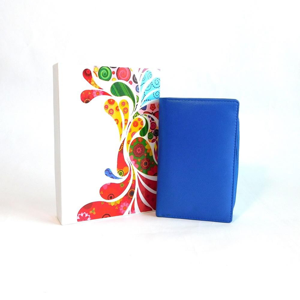 Modrá kožená peněženka Vera Pelle CL401 | Oázakabelek