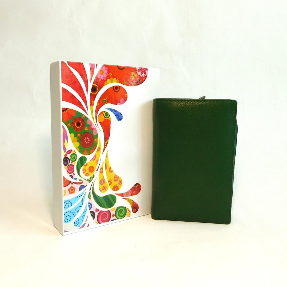 Zelená kožená peněženka Vera Pelle CL401 | Oázakabelek