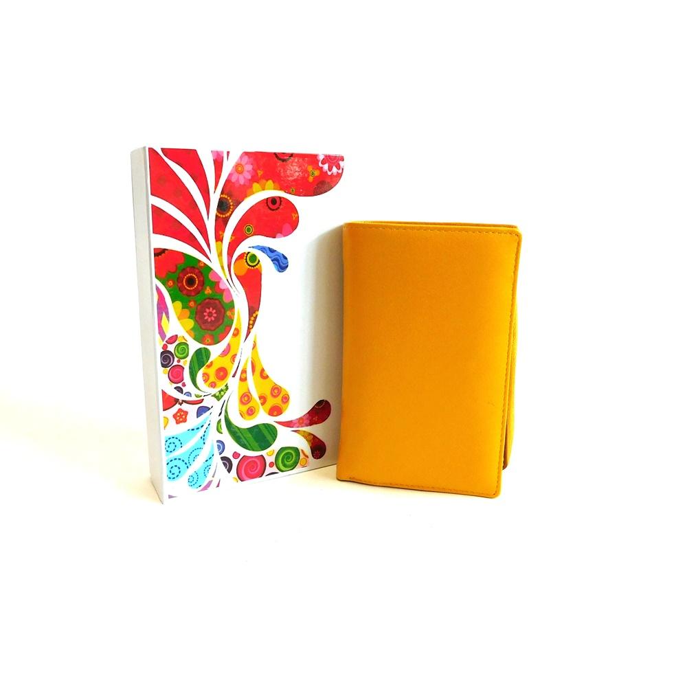 Žlutá kožená peněženka Vera Pelle CL401 | Oázakabelek