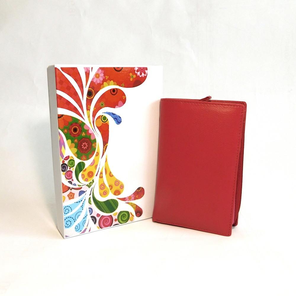 Červená kožená peněženka Vera Pelle CL401 | Oázakabelek
