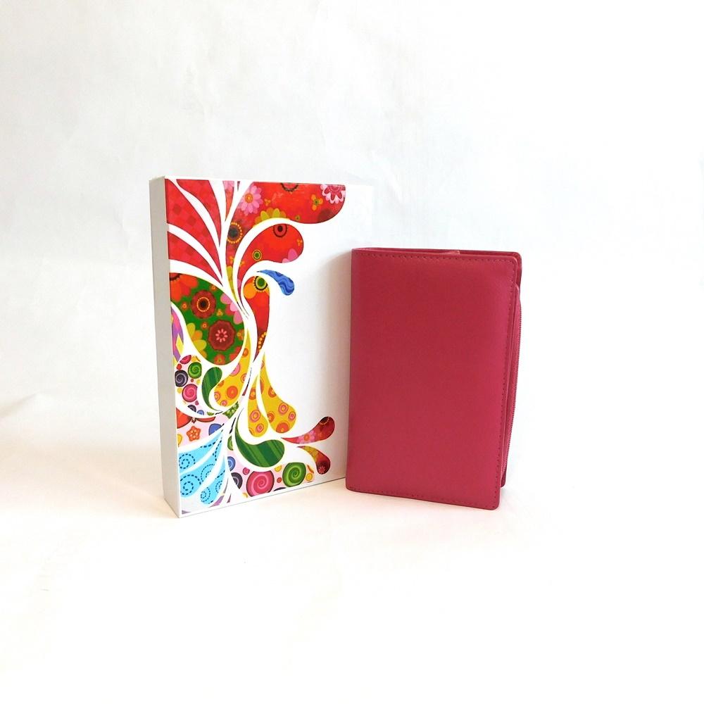 Růžová kožená peněženka Vera Pelle CL401 | Oázakabelek