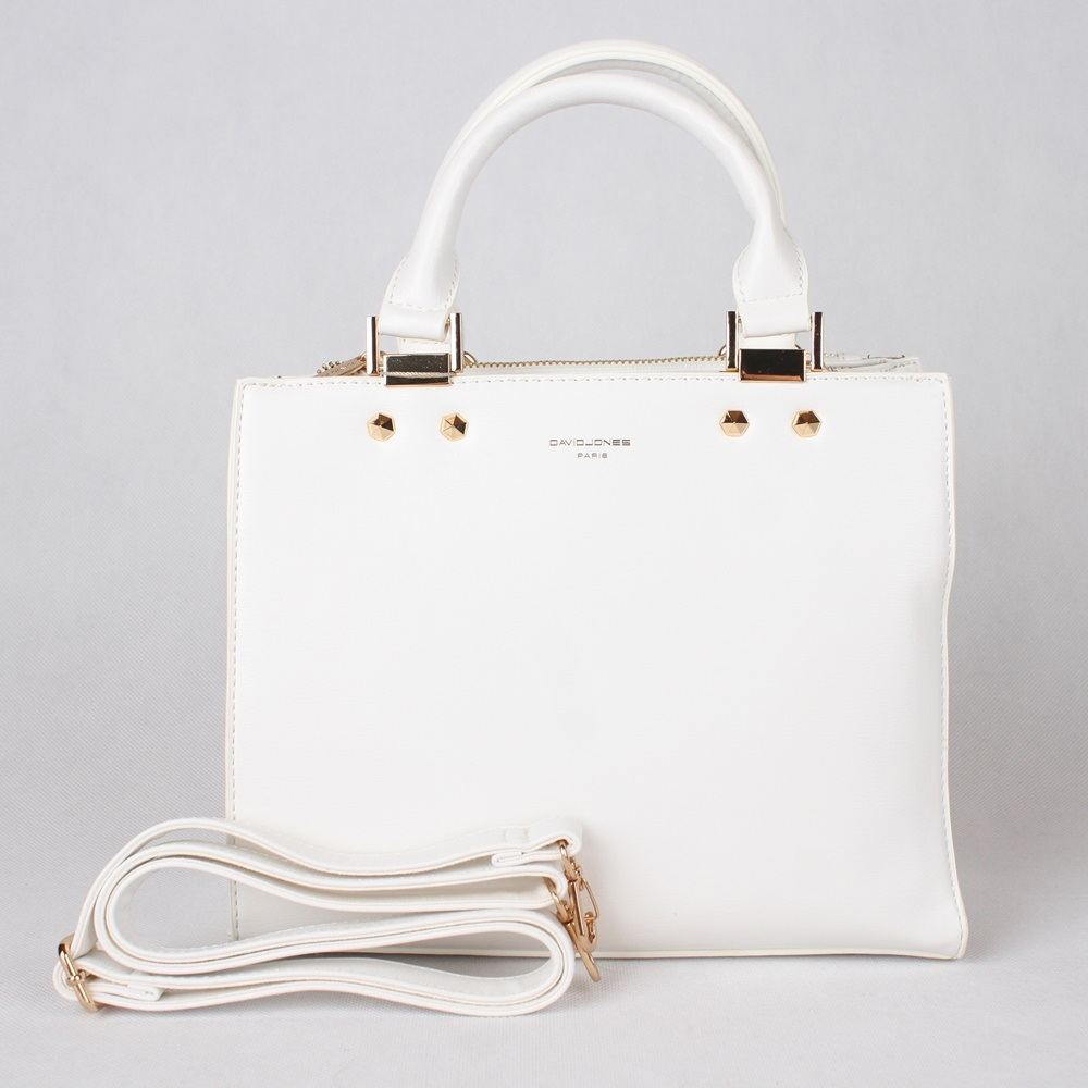 Bílá kabelka do ruky David Jones CM3797