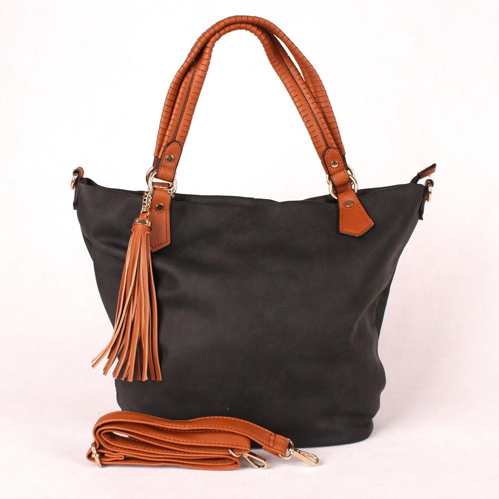 9b46dd1099 Černá velká kabelka do ruky či na rameno ALPINI LC9909