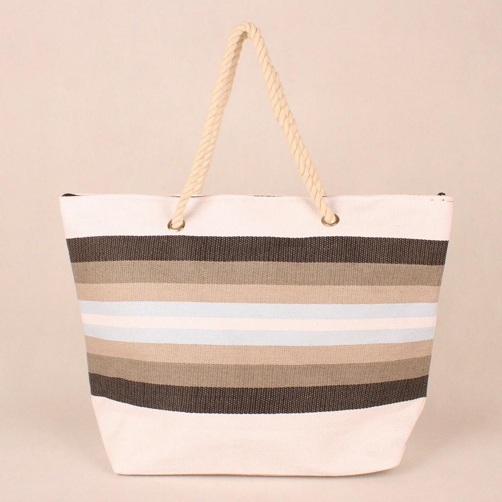 Velká bílá plážová taška