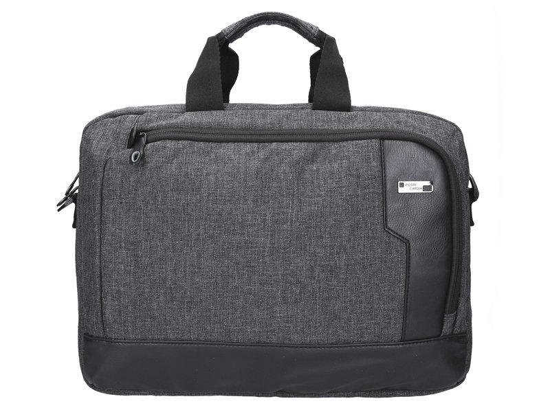 "Černá pánská taška na rameno Pierre Cardin na notebook až 14"""