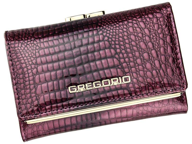 Malá fialová lesklá kožená peněženka Gregorio SLL-117