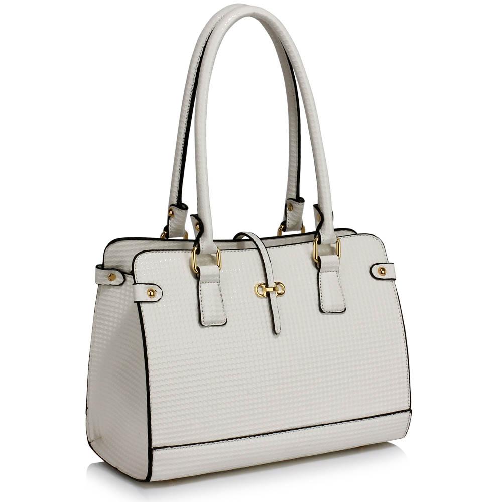 Bílá kabelka na rameno i do ruky LS00306 5ef86afaba