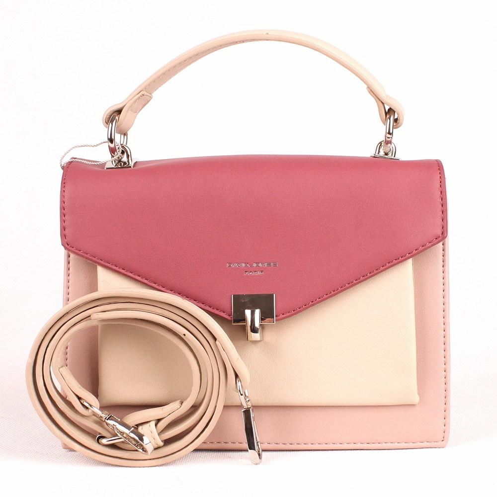 9a129f17af Malá růžová pevná kabelka (aktovka) do ruky či na rameno David Jones CM5026