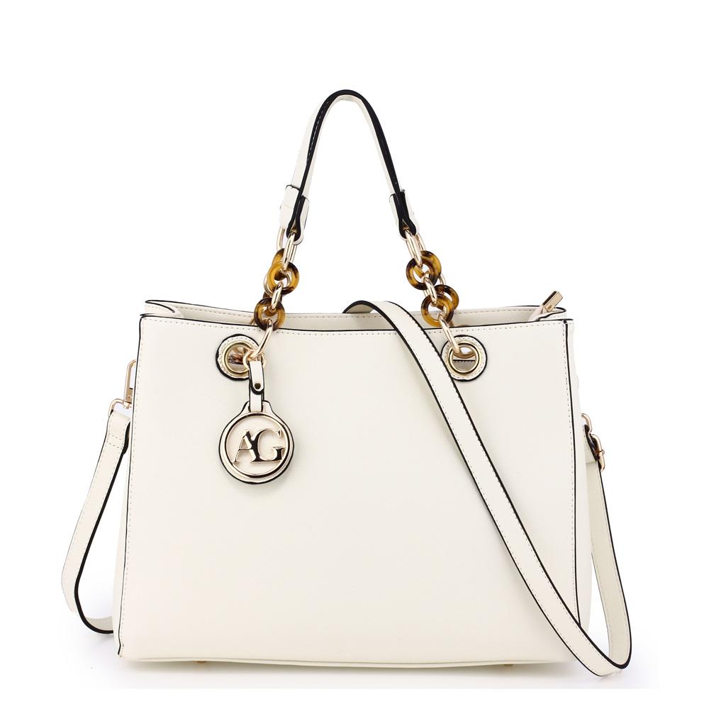 64c0c563101 Elegantní bílá kabelka do ruky AG00536A