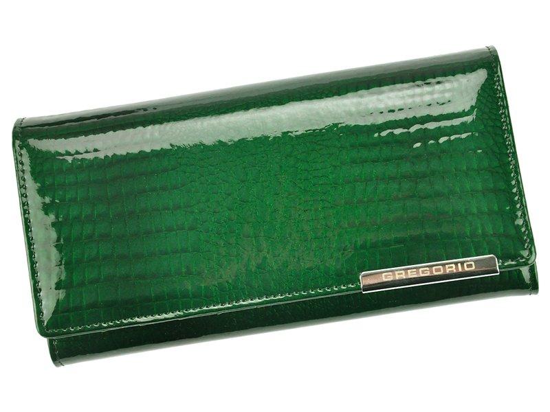 Zelená kožená peněženka Gregorio GF100