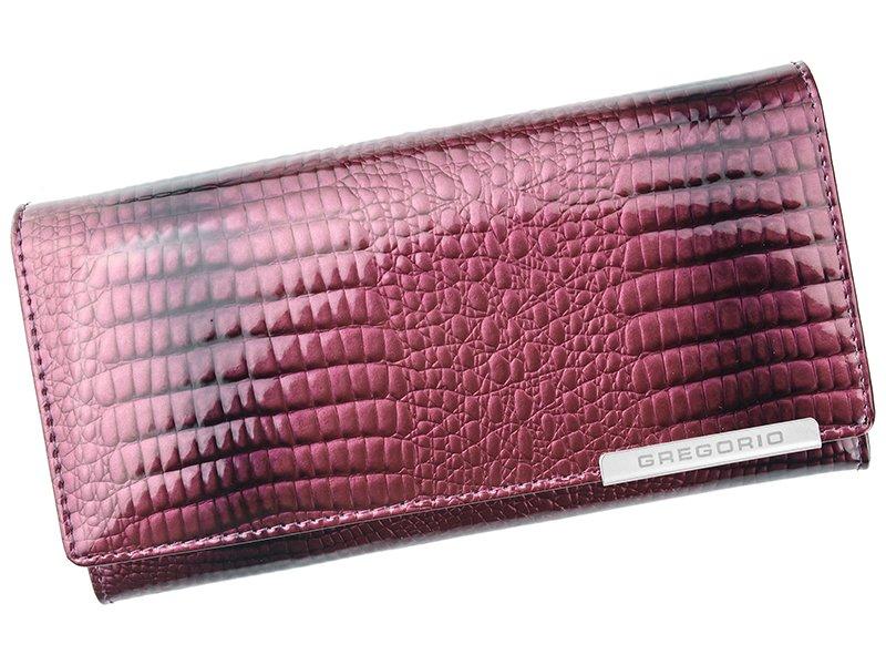 Fialová kožená peněženka Gregorio GF100