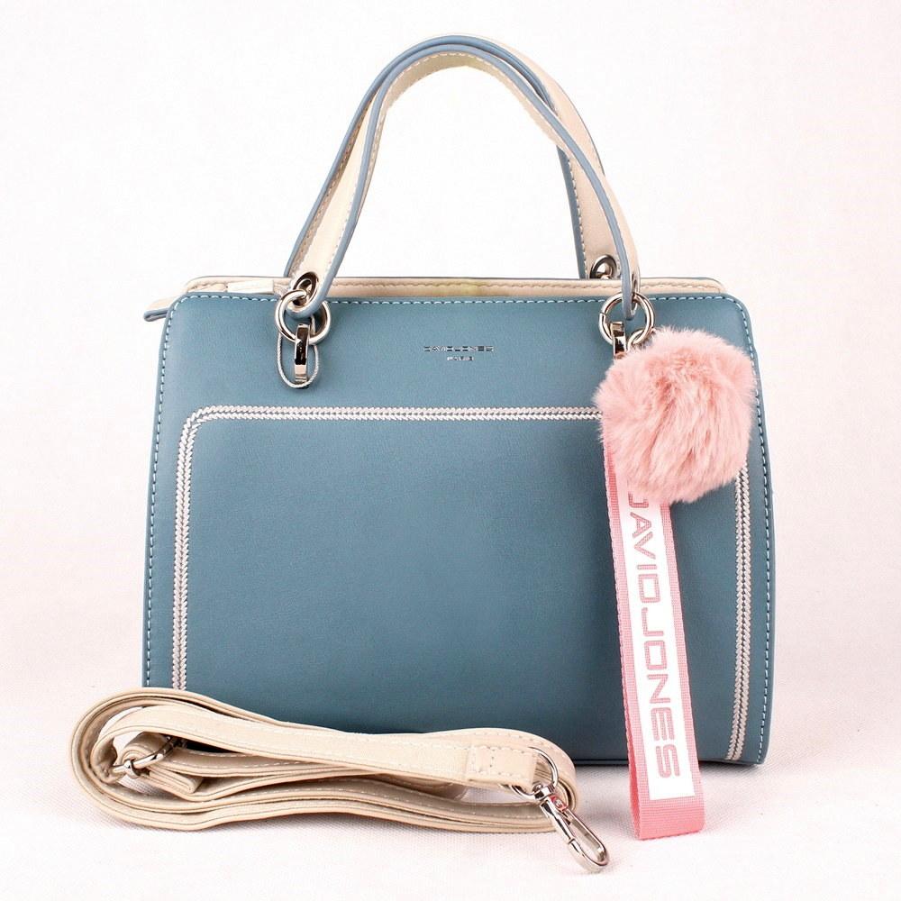 adacfee9b8 Malá střední modrá (tyrkysová) kabelka do ruky David Jones 5993-2