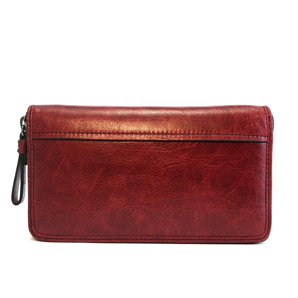 Luxusní tmavěčervená kožená peněženka Gianni Conti no. 1768