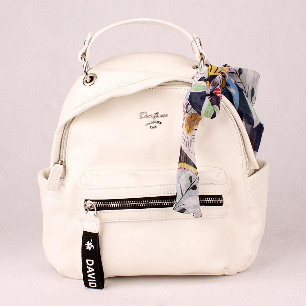 defc27c583 Malý městský bílý batoh David Jones CM5048a se šátkem