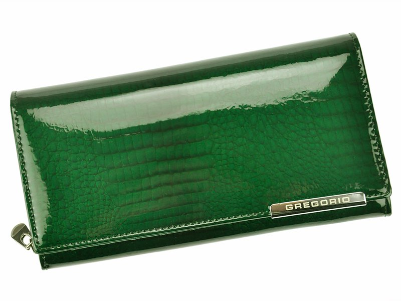 Zelená kožená peněženka Gregorio GF106