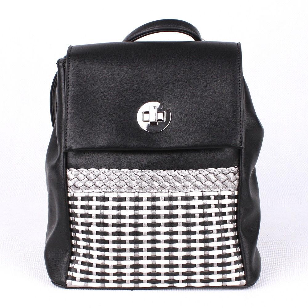 1b64959b9 Malý městský černý batoh David Jones 5972-2, obsah cca. 5l