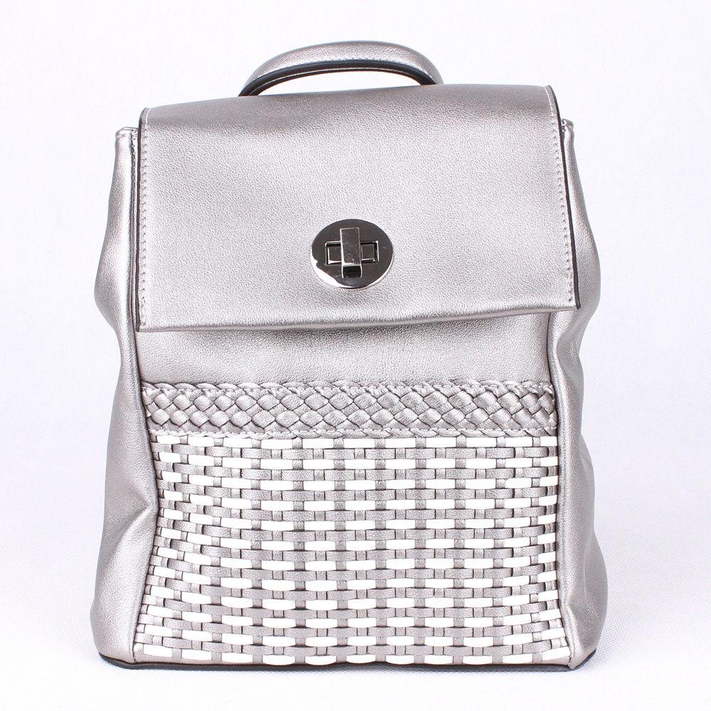 99d6c9f8ec Malý městský stříbrný batoh David Jones 5972-2