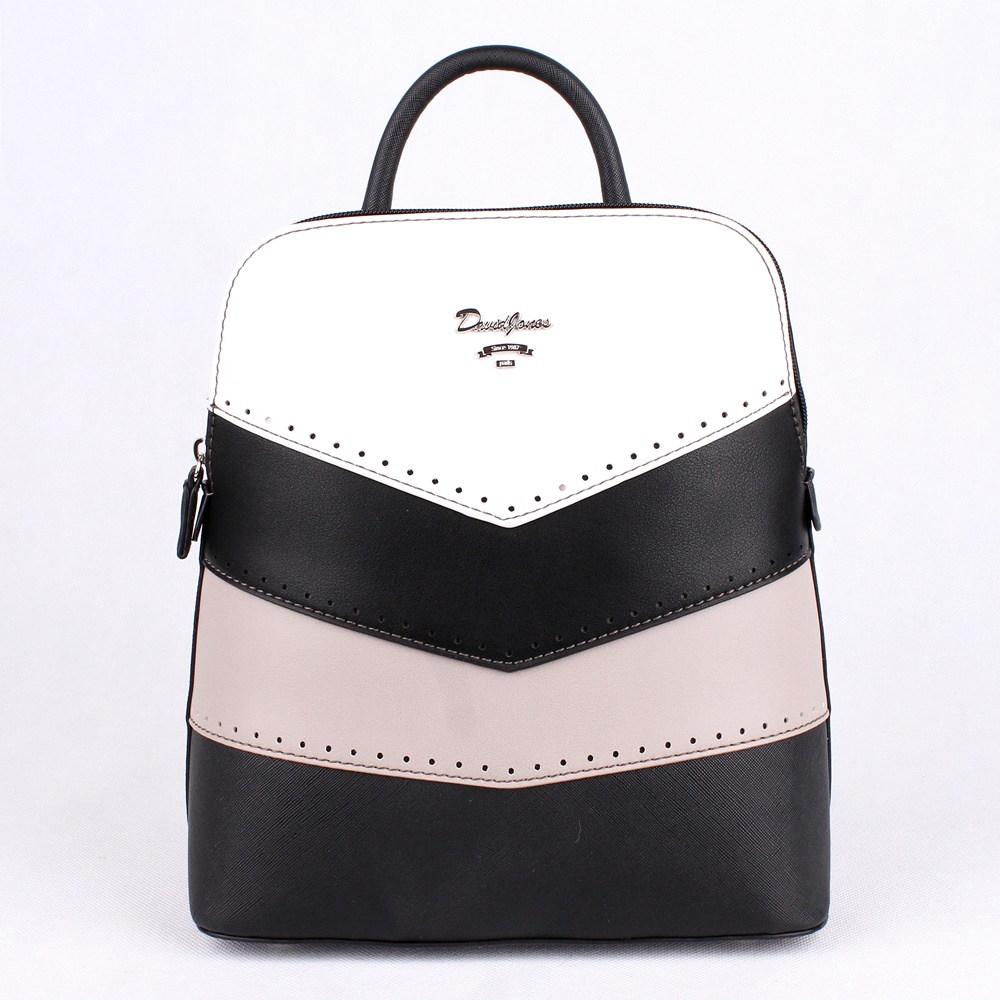 0e96a350bd Městský malý černý batoh David Jones 5926-2 s obsahem cca. 5l