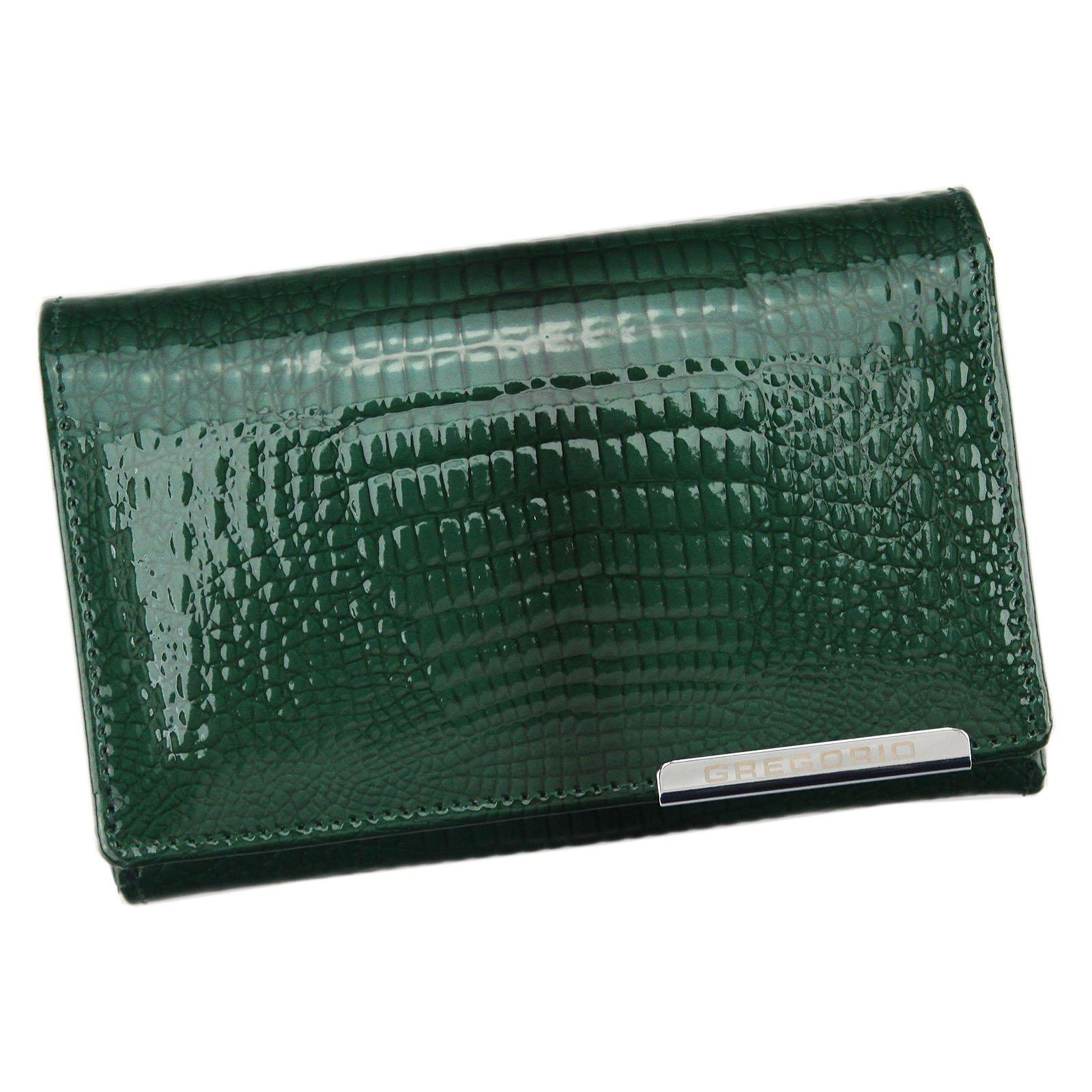 Zelená kožená peněženka Gregorio GF112