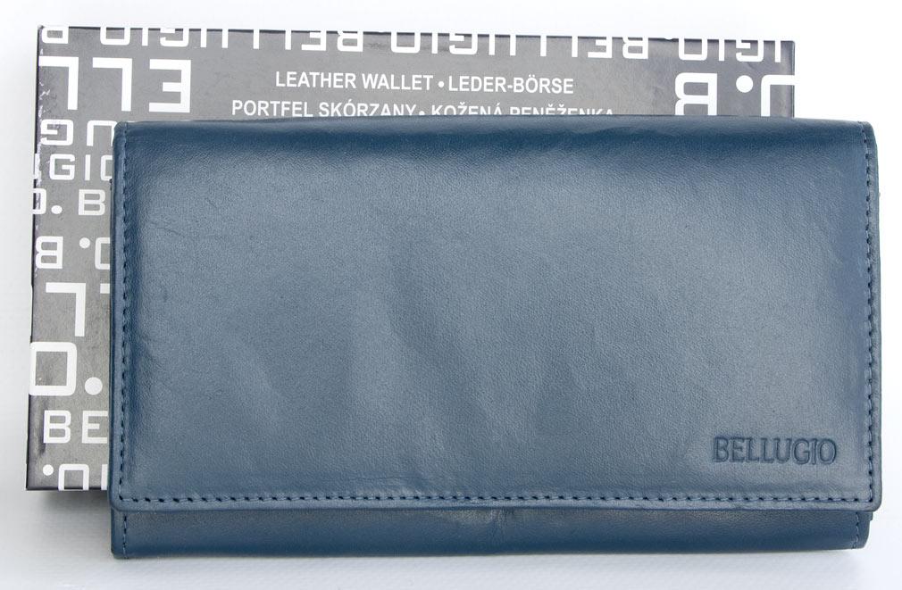 Peněženka BELLUGIO šedomodrá