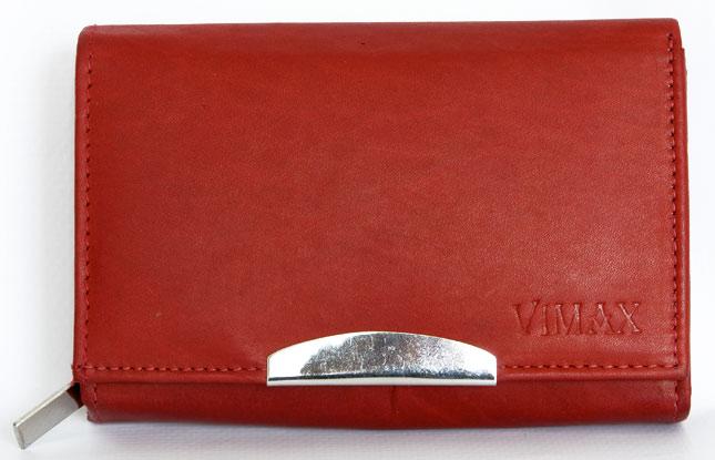 Červená dámská kožená peněženka VIMAX (ADV-07-068)