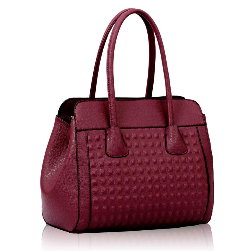 Levná fialová kabelka do ruky i na rameno LS00141
