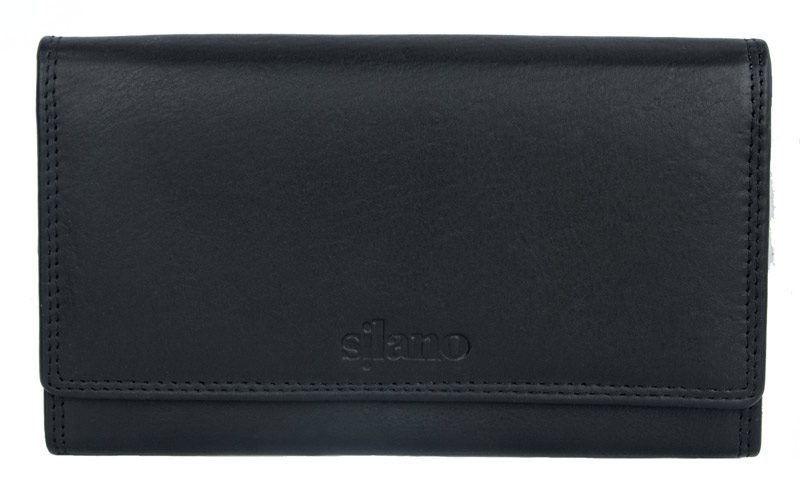 Černá dámská kožená peněženka Silano