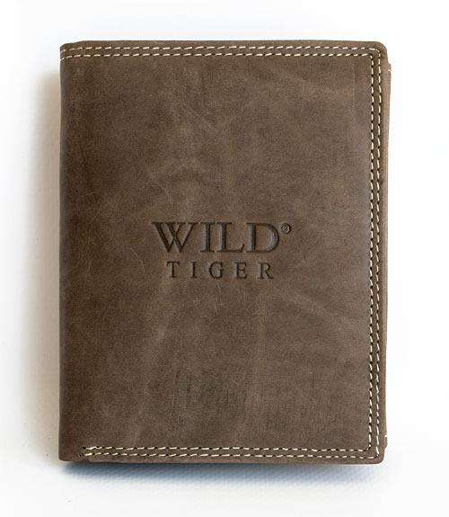 Peněženka Wild Tiger šedohnědá