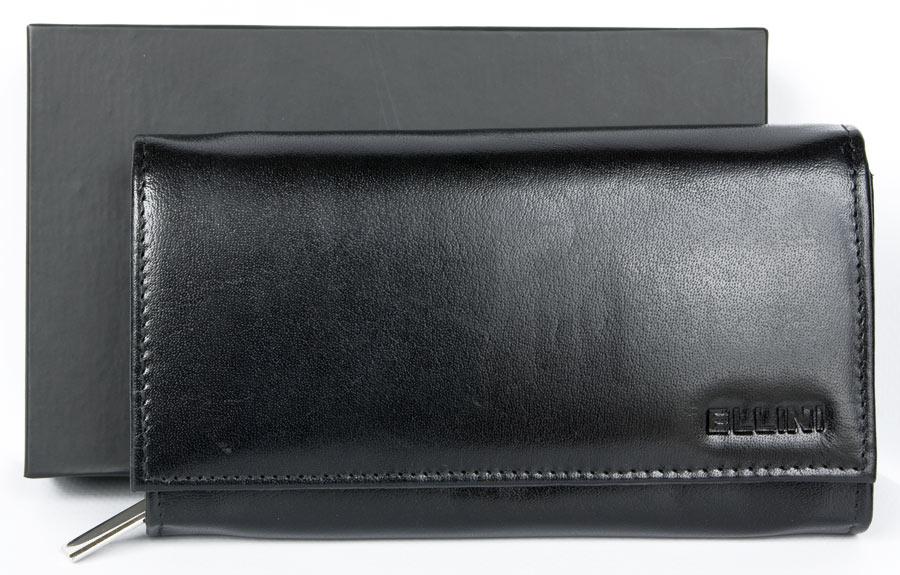 Černá dámská kožená peněženka Ellini