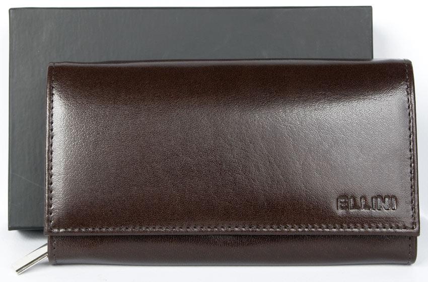 Hnědá dámská kožená peněženka Ellini